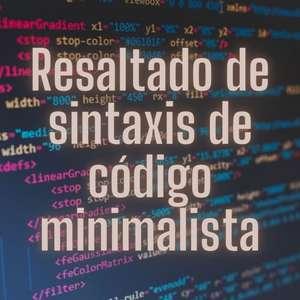 Resaltado de sintaxis de código minimalista